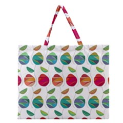 Watercolor Floral Roses Pattern Zipper Large Tote Bag by Nexatart