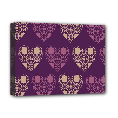 Purple Hearts Seamless Pattern Deluxe Canvas 16  X 12