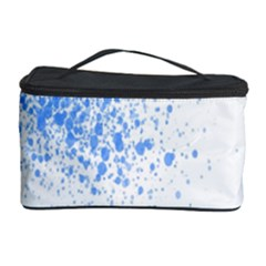 Blue Paint Splats Cosmetic Storage Case by Nexatart