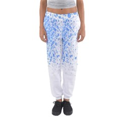 Blue Paint Splats Women s Jogger Sweatpants