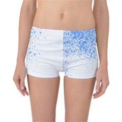 Blue Paint Splats Boyleg Bikini Bottoms