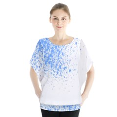 Blue Paint Splats Blouse