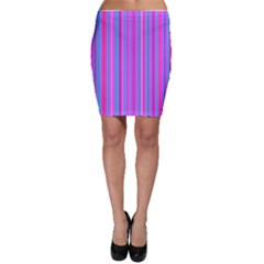 Blue And Pink Stripes Bodycon Skirt
