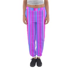 Blue And Pink Stripes Women s Jogger Sweatpants