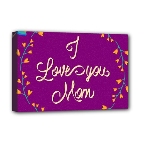 Happy Mothers Day Celebration I Love You Mom Deluxe Canvas 18  X 12   by Nexatart