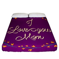 Happy Mothers Day Celebration I Love You Mom Fitted Sheet (california King Size)