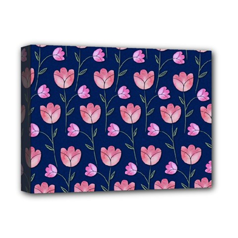 Watercolour Flower Pattern Deluxe Canvas 16  X 12   by Nexatart