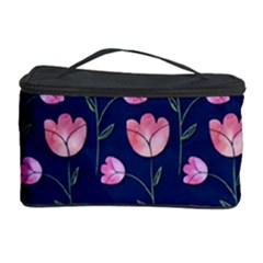 Watercolour Flower Pattern Cosmetic Storage Case by Nexatart