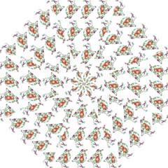 Floral Birds Wallpaper Pattern On White Background Golf Umbrellas by Nexatart