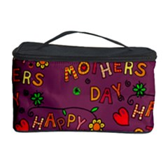 Happy Mothers Day Text Tiling Pattern Cosmetic Storage Case by Nexatart