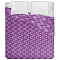 Purple Zig Zag Pattern Background Wallpaper Duvet Cover Double Side (california King Size)