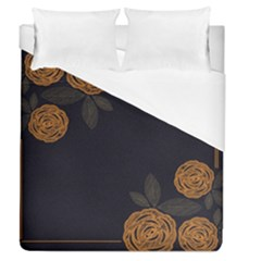 Floral Roses Seamless Pattern Vector Background Duvet Cover (queen Size)