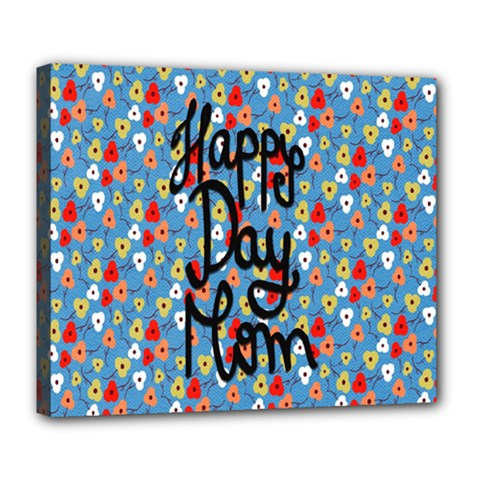 Happy Mothers Day Celebration Deluxe Canvas 24  X 20   by Nexatart
