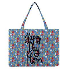 Happy Mothers Day Celebration Medium Zipper Tote Bag by Nexatart