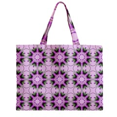 Pretty Pink Floral Purple Seamless Wallpaper Background Zipper Mini Tote Bag