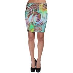 Art Pattern Bodycon Skirt