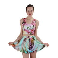 Art Pattern Mini Skirt