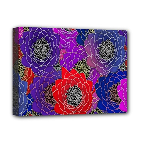 Colorful Background Of Multi Color Floral Pattern Deluxe Canvas 16  X 12
