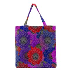 Colorful Background Of Multi Color Floral Pattern Grocery Tote Bag by Nexatart