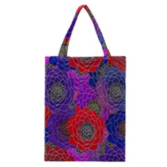 Colorful Background Of Multi Color Floral Pattern Classic Tote Bag
