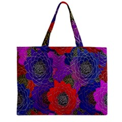 Colorful Background Of Multi Color Floral Pattern Zipper Mini Tote Bag by Nexatart