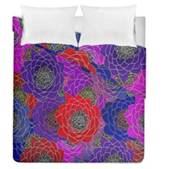 Colorful Background Of Multi Color Floral Pattern Duvet Cover Double Side (queen Size) by Nexatart