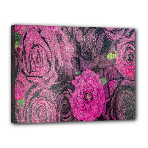 Oil Painting Flowers Background Canvas 16  X 12  by Nexatart