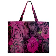 Oil Painting Flowers Background Zipper Mini Tote Bag by Nexatart