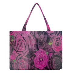 Oil Painting Flowers Background Medium Tote Bag by Nexatart