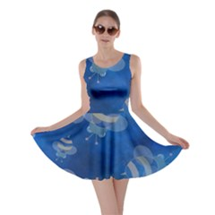 Seamless Bee Tile Cartoon Tilable Design Skater Dress
