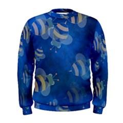 Seamless Bee Tile Cartoon Tilable Design Men s Sweatshirt
