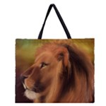 lion tote bag 2  sides - Zipper Large Tote Bag