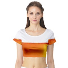 The Wine Bubbles Background Short Sleeve Crop Top (tight Fit)