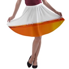 The Wine Bubbles Background A Line Skater Skirt by Nexatart