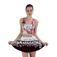 Bubbles In Red Wine Mini Skirt