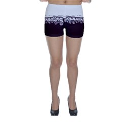 Bubbles In Red Wine Skinny Shorts