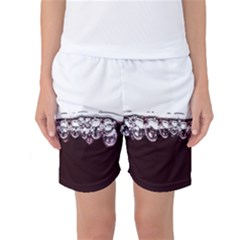 Bubbles In Red Wine Women s Basketball Shorts by Nexatart