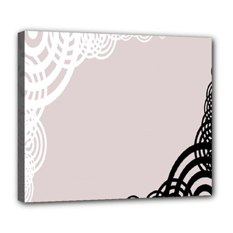 Circles Background Deluxe Canvas 24  X 20   by Nexatart