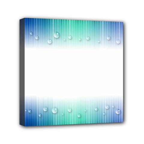 Blue Stripe With Water Droplets Mini Canvas 6  X 6  by Nexatart