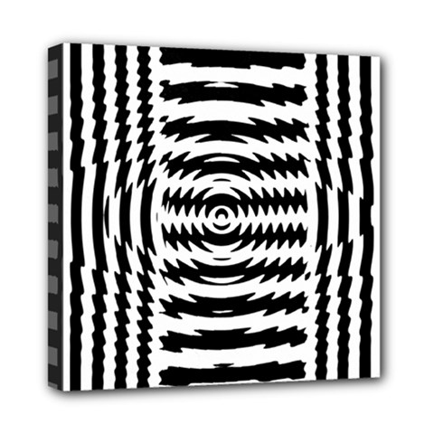Black And White Abstract Stripped Geometric Background Mini Canvas 8  X 8