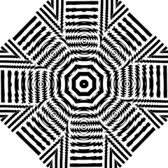 Black And White Abstract Stripped Geometric Background Folding Umbrellas by Nexatart