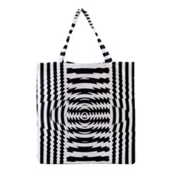Black And White Abstract Stripped Geometric Background Grocery Tote Bag by Nexatart