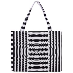 Black And White Abstract Stripped Geometric Background Mini Tote Bag by Nexatart