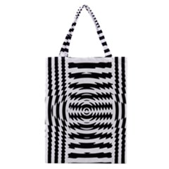 Black And White Abstract Stripped Geometric Background Classic Tote Bag