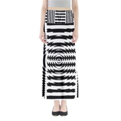 Black And White Abstract Stripped Geometric Background Maxi Skirts