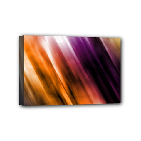 Colourful Grunge Stripe Background Mini Canvas 6  X 4