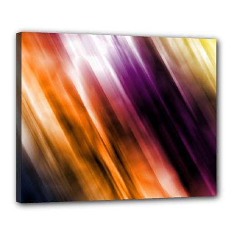 Colourful Grunge Stripe Background Canvas 20  X 16