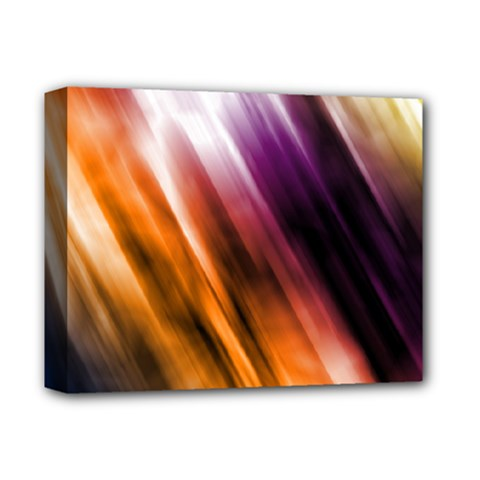 Colourful Grunge Stripe Background Deluxe Canvas 14  X 11