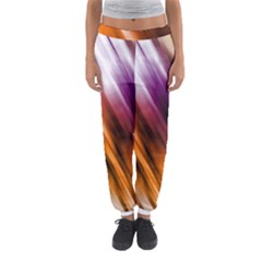 Colourful Grunge Stripe Background Women s Jogger Sweatpants