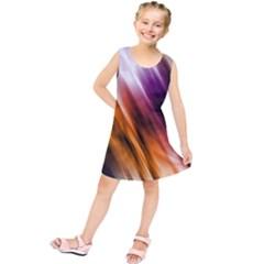 Colourful Grunge Stripe Background Kids  Tunic Dress